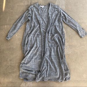 LULAROE | women's long heather grey cardigan